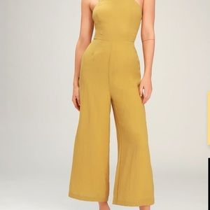 Yellow Culotte Jumpsuit